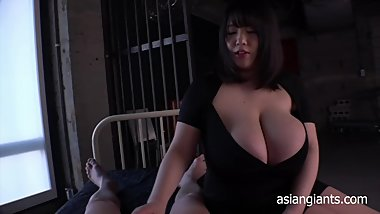 Japanese Busty Girl Jerking Dad