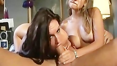 Horny asian bitch in porno threesome part6
