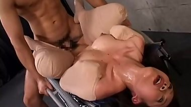 Japanese Slave tied and fucked in pantyhose.