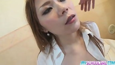 Mie getting a creamed pussy after a hot sex