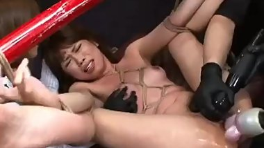 Japanese Panty and Lingerie Fetish Gal Tied Up, Sucks Cock And Gets Fucked