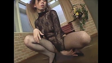 Sawamoto Nao japanese sexy woman with panty stoking Langerie