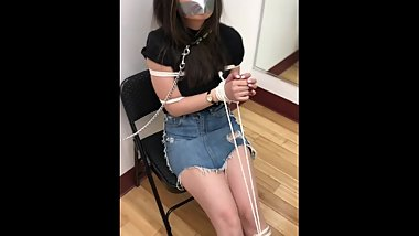 Japanese Haruka is GAGGED with DUCT TAPE!