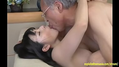 Jav Idol Ai Uehara Fucks Old Duffer On The Couch She Rides Him Hard