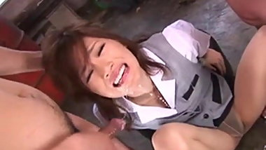 Short vid. Japanese schoolgirl chained and facefucked 1