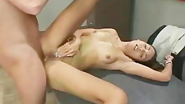 Ponytailed asian girl sucking cock part3