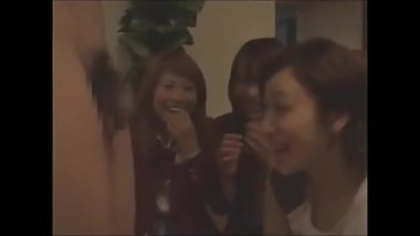 Japanese JAV film - CFNM SPH-3 Girls Make Fun of 3 Peeping Toms Penis Sizes