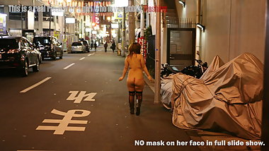 Japanese chubby girl public flashing slide show3