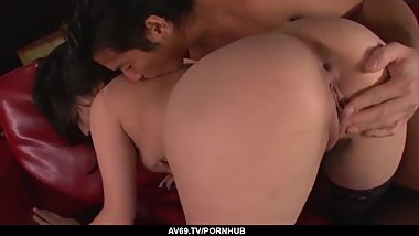 Megumi Haruka strips naked for a big Japanese dick - More at 69avs com