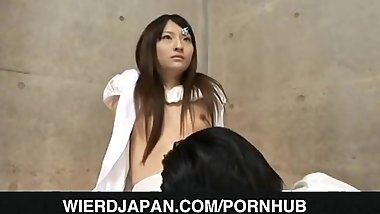 Japanese AV Model is licked all over