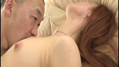 AMWF Angelina interracial with Asian guy